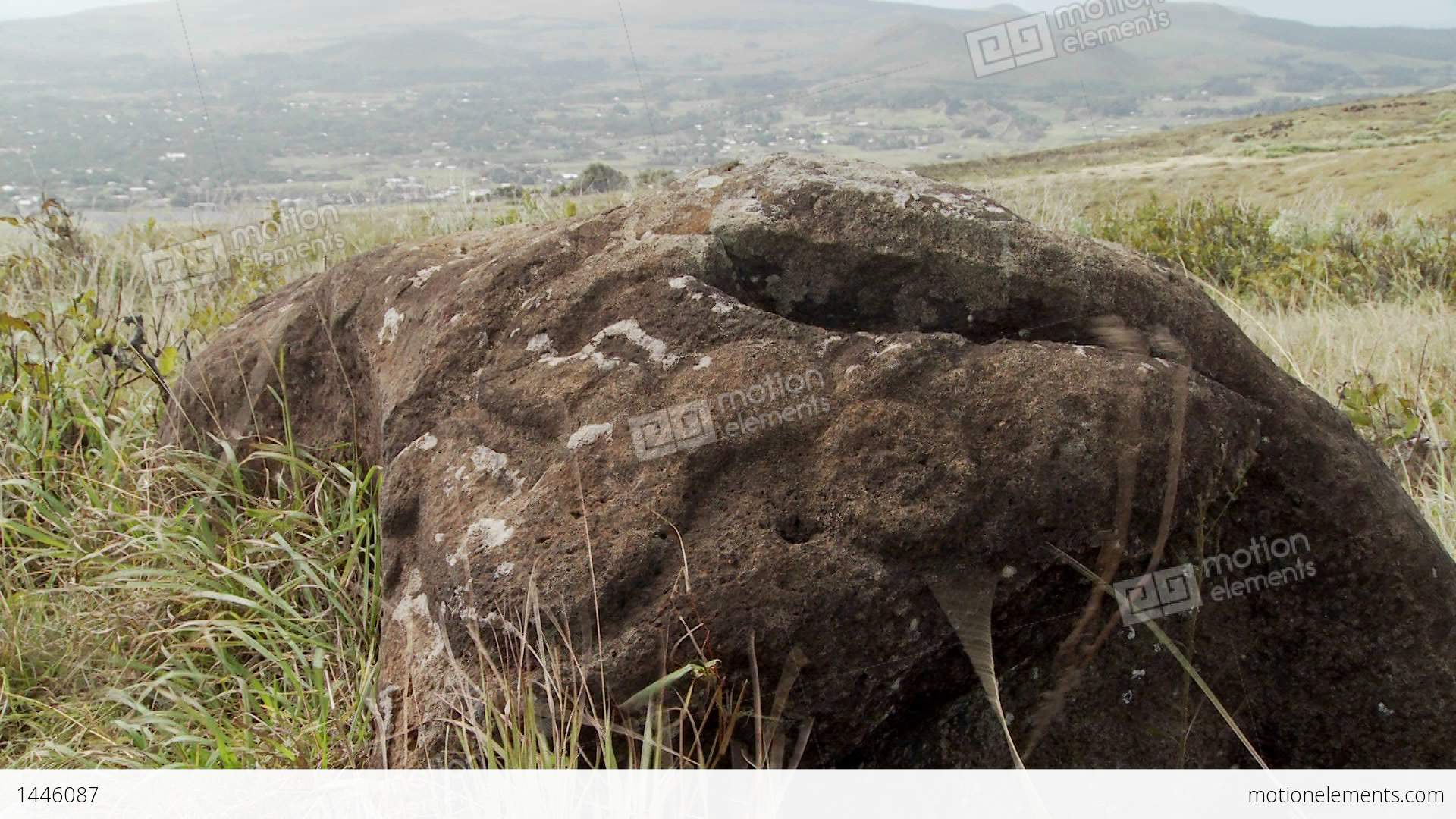 Mysterious stone carvings adorn a lookout spot for birdmen