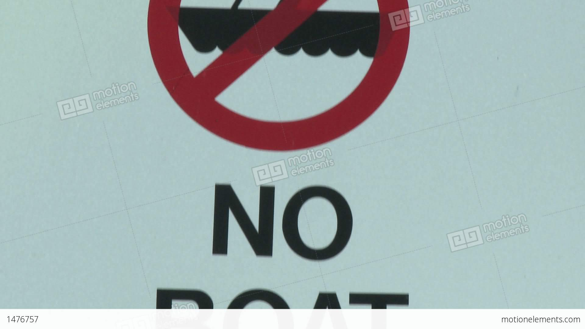 Tilt Down On No Boat Entry Sign Due To Quagga Mussel Quarantine At