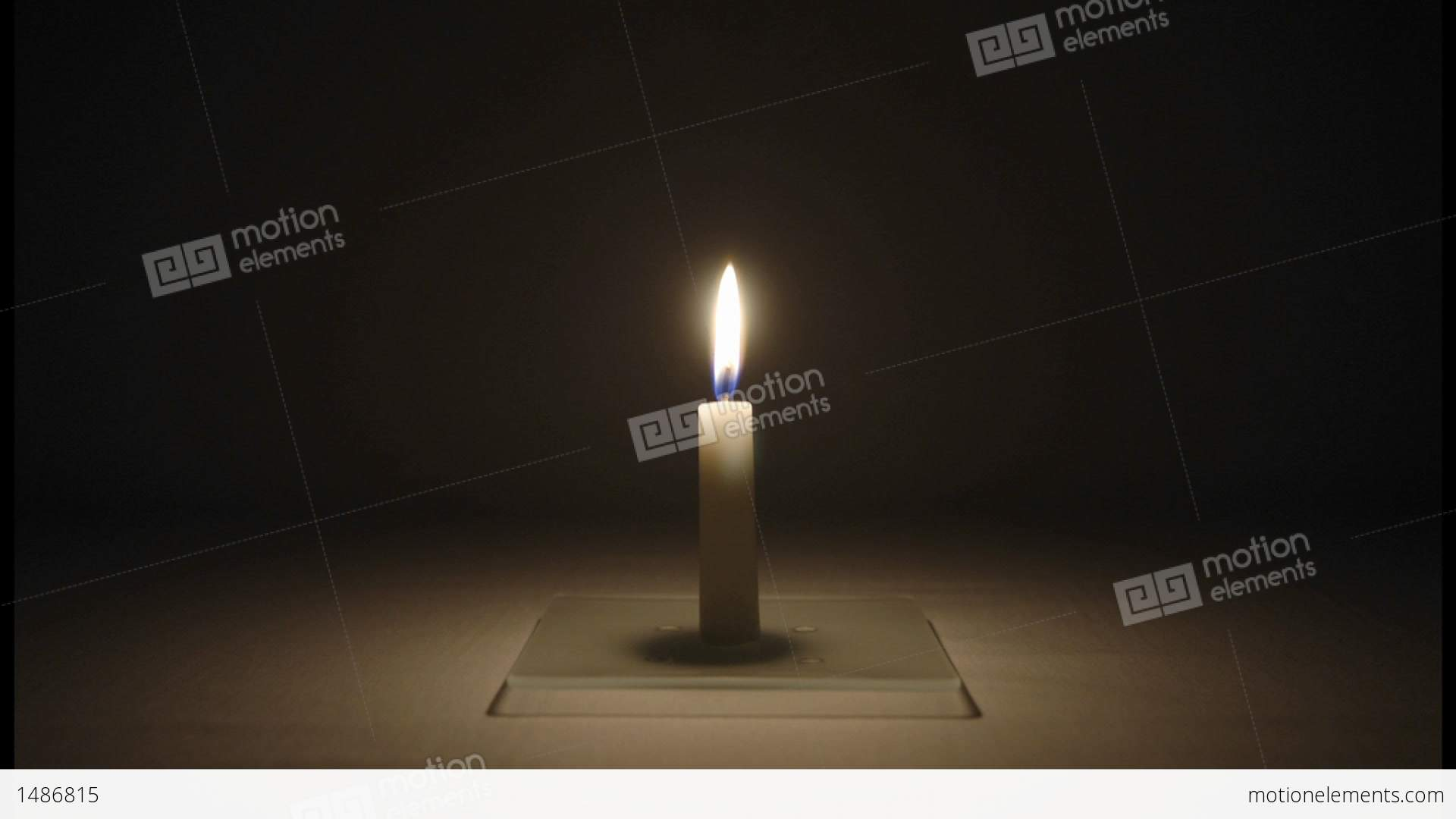 Dark room with candle light - A Small Candle Burns In A Dark Room Stock Video Footage