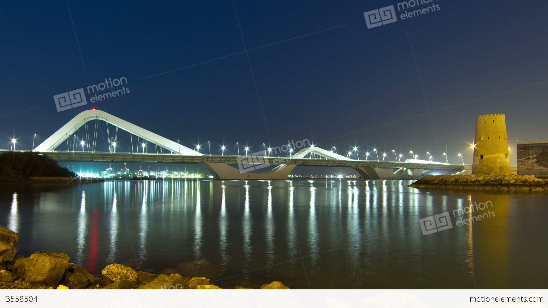 Industrial House Sheikh Zayed Bridge Stock Video Footage 3558504