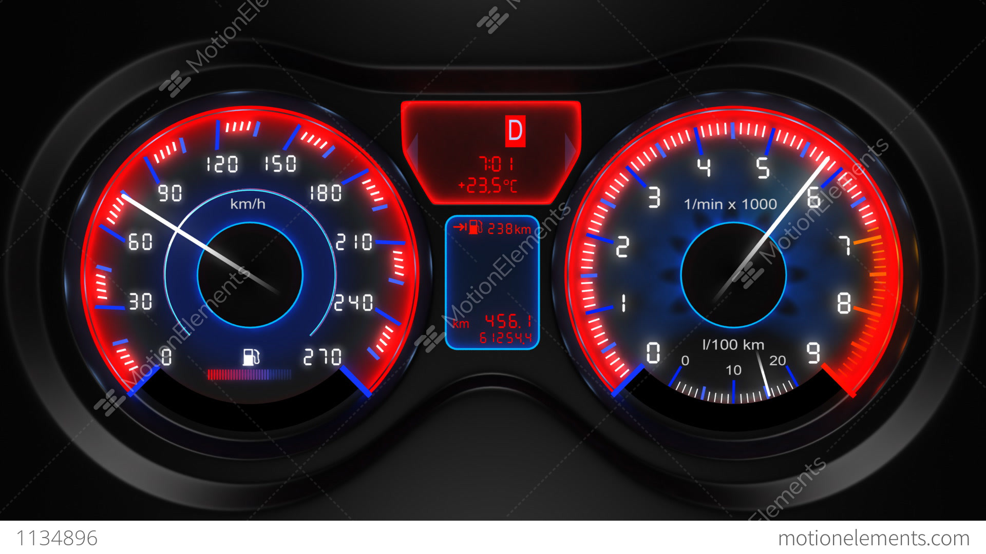 Instrument Panel Clip Art : Car dashboard animation stock