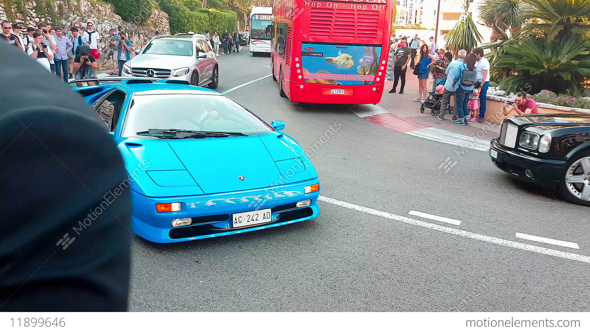Blue Lamborghini Diablo Sv Stock Video Footage 11899646