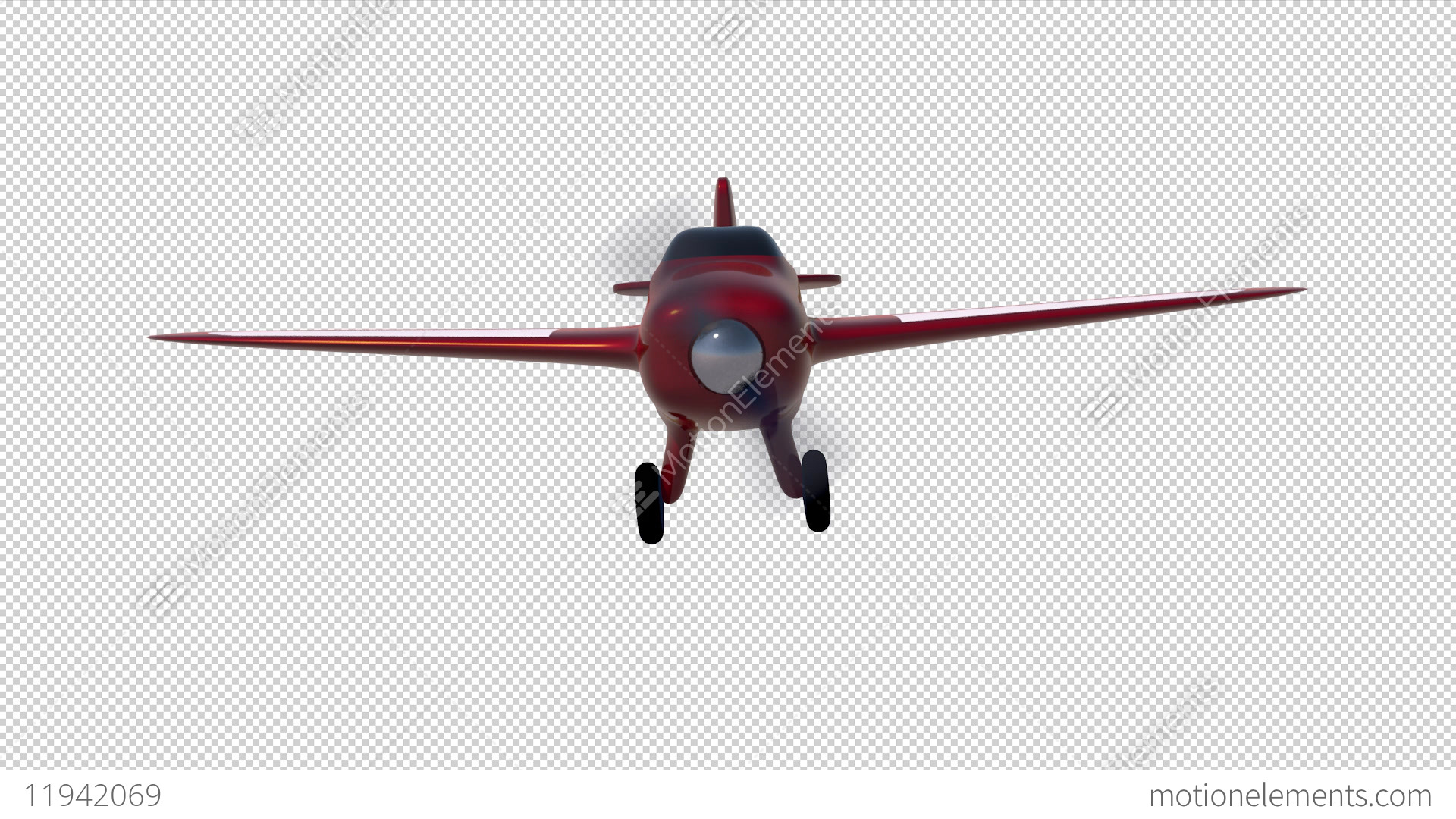 Cartoon Aeroplane Stock Video Footage
