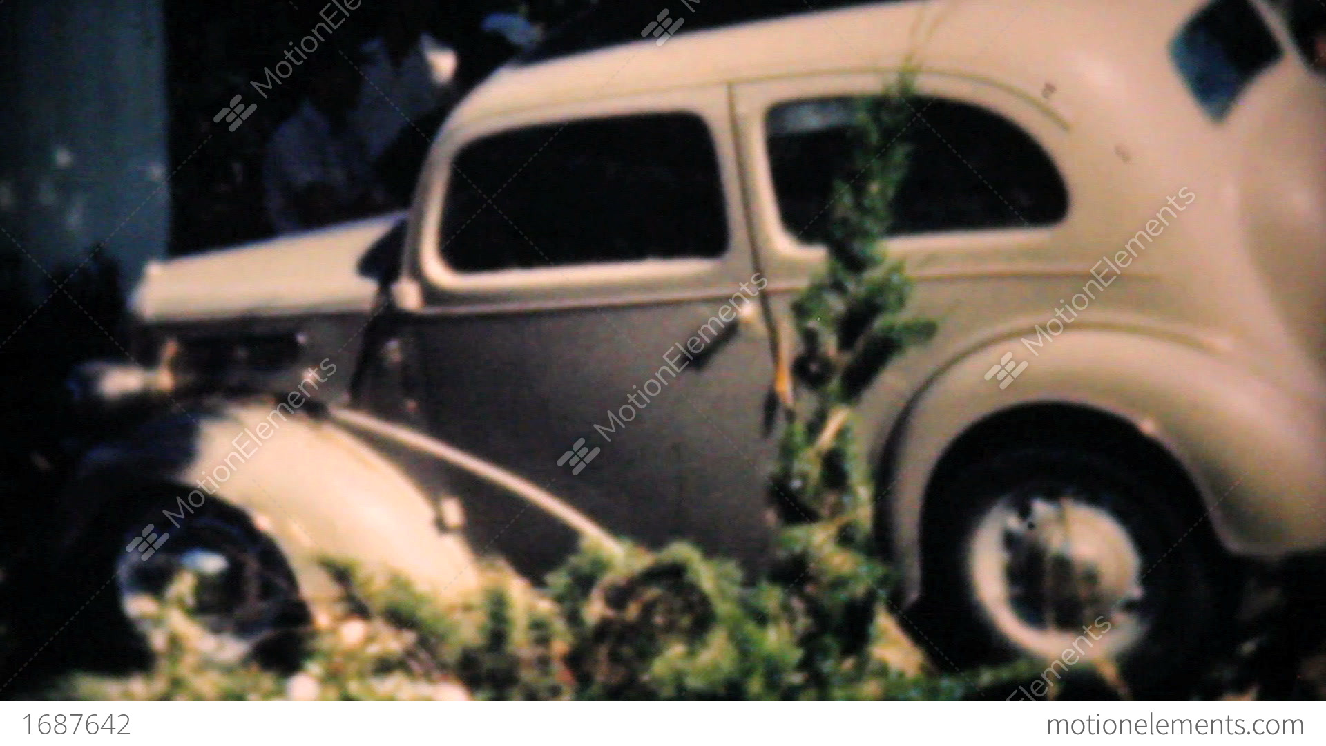 Old Cars Damaged By Dallas Flood 1948 Vintage 8mm Stock video ...