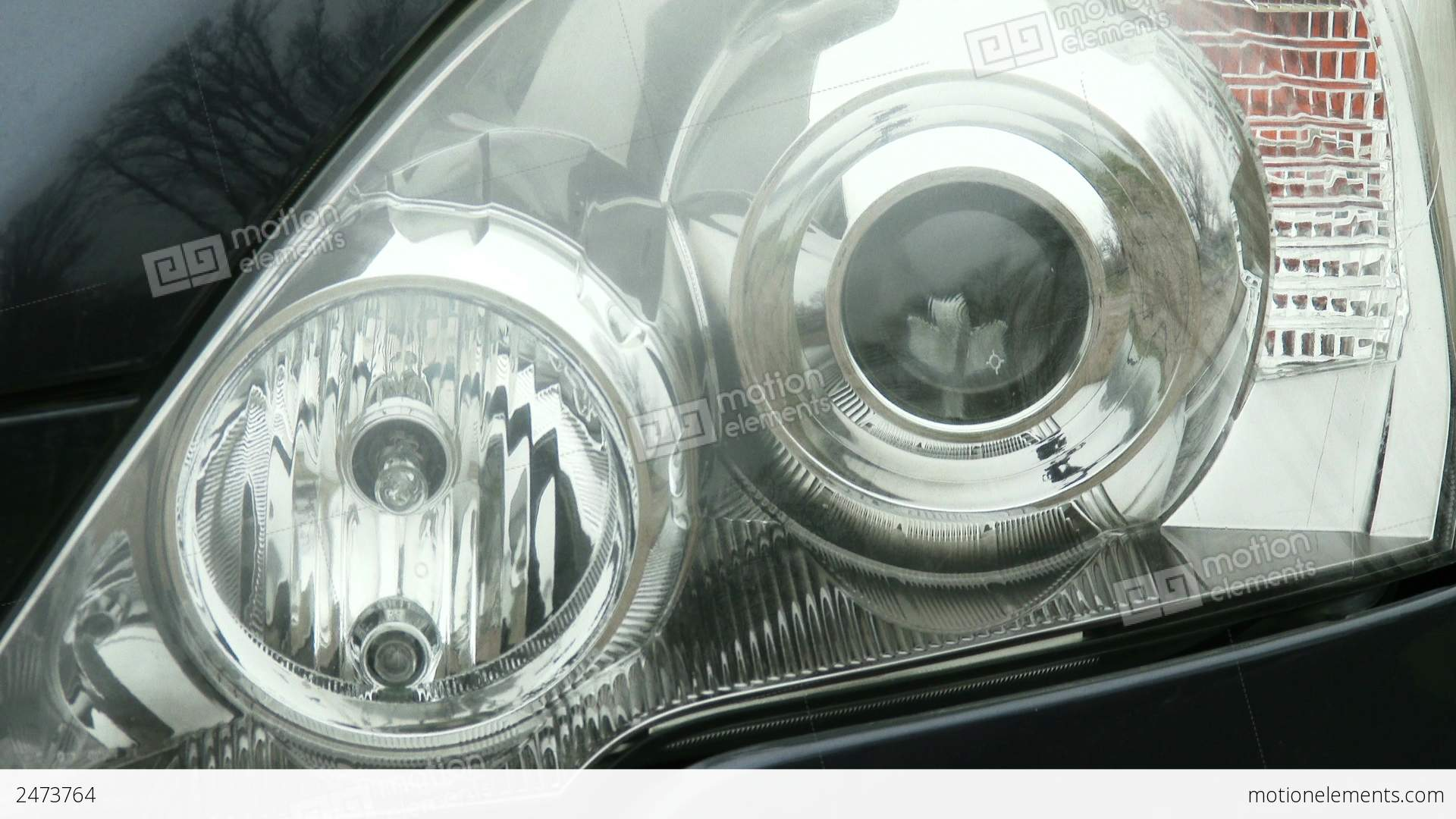 4k car lights turning on off flashing stock video footage | 2473764