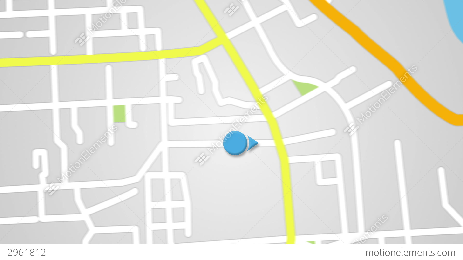 Street Map GPS Navigator Seamless Loop Stock Animation | 2961812