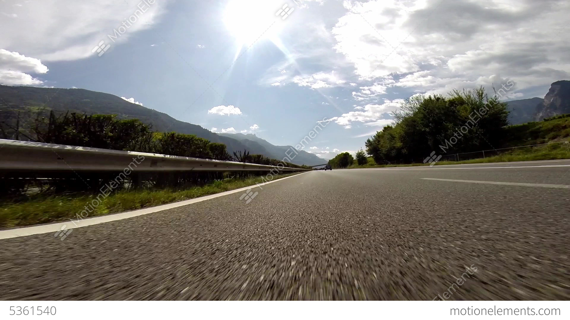Overtaking On Swiss Highway (At Normal Speed : 120 Stock ...