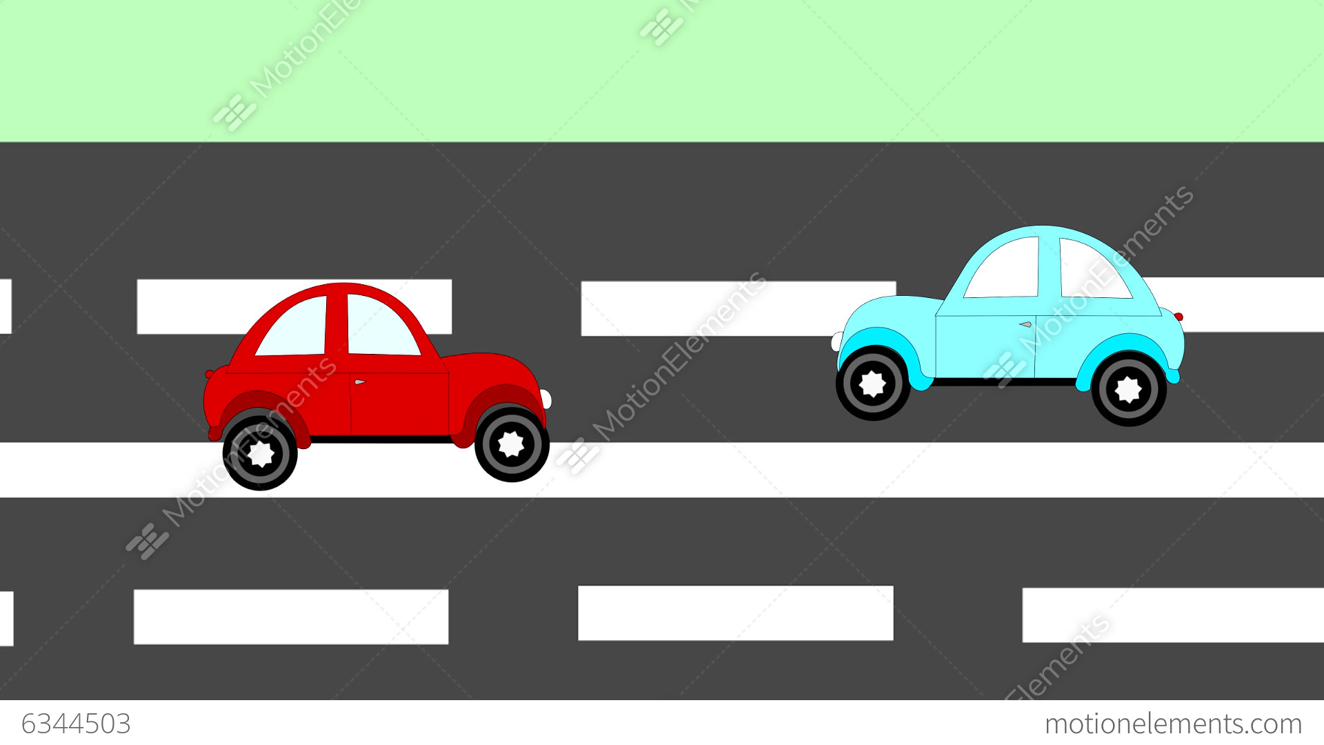The Accident, Car Accident Two Cars On The Freeway Stock Animation ...