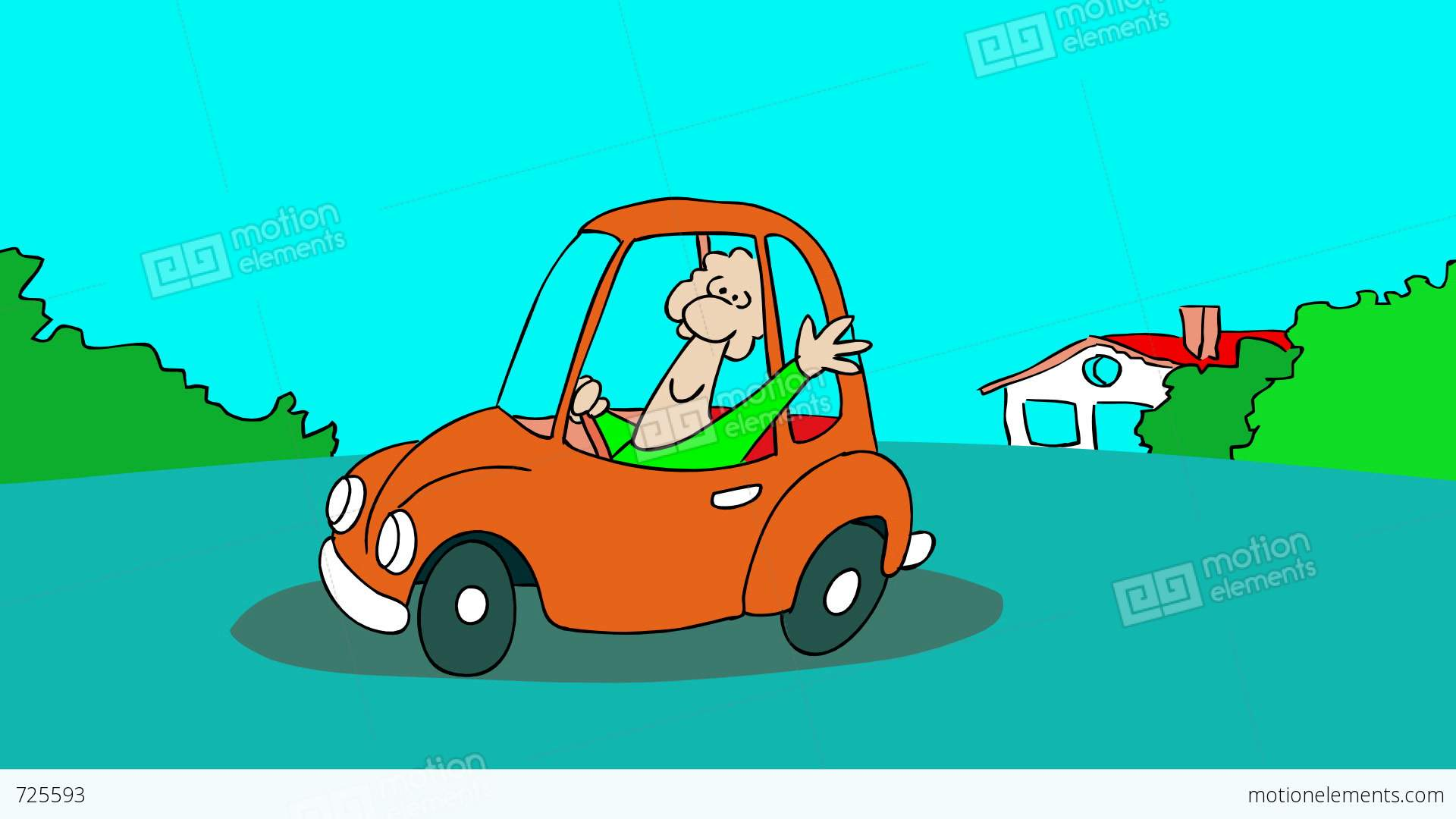 CAR CRASH Stock Animation | 725593