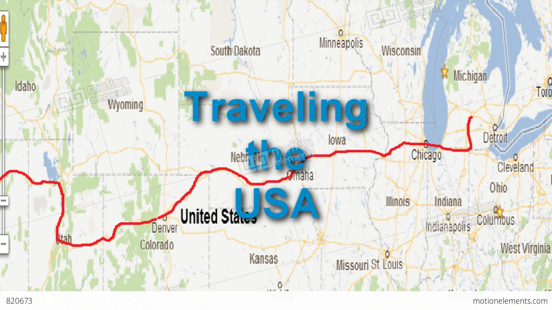 US Map Travel Animation With Traveling The USA Title – Usa Travel Maps