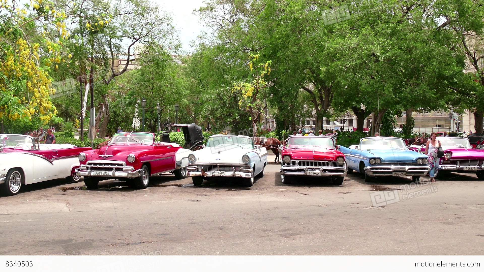 old vintage cars parked in the streets of havana cuba stock video footage 8340503. Black Bedroom Furniture Sets. Home Design Ideas