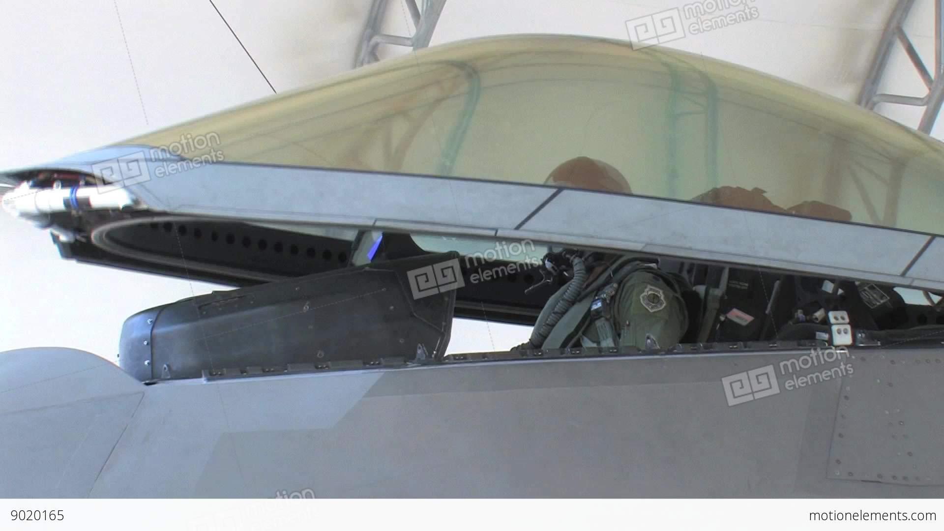 F22 Raptor closing canopy Stock Video Footage & F22 Raptor Closing Canopy Stock video footage | 9020165
