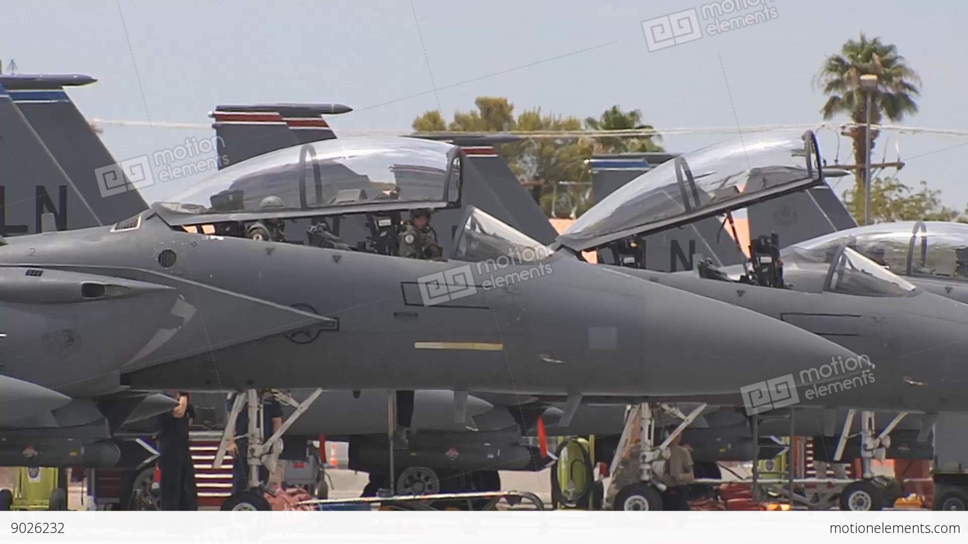 The canopy closes on an F-15E fighter jet at Red Flag Stock Video Footage & The Canopy Closes On An F-15E Fighter Jet At Red Flag Stock video ...