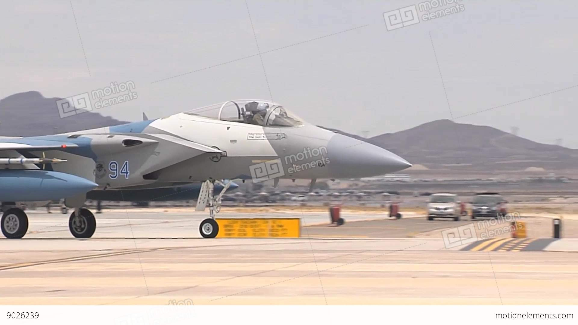 F 15 Fighter Jet Assigned To The 65th Aggressor Stock Video Footage