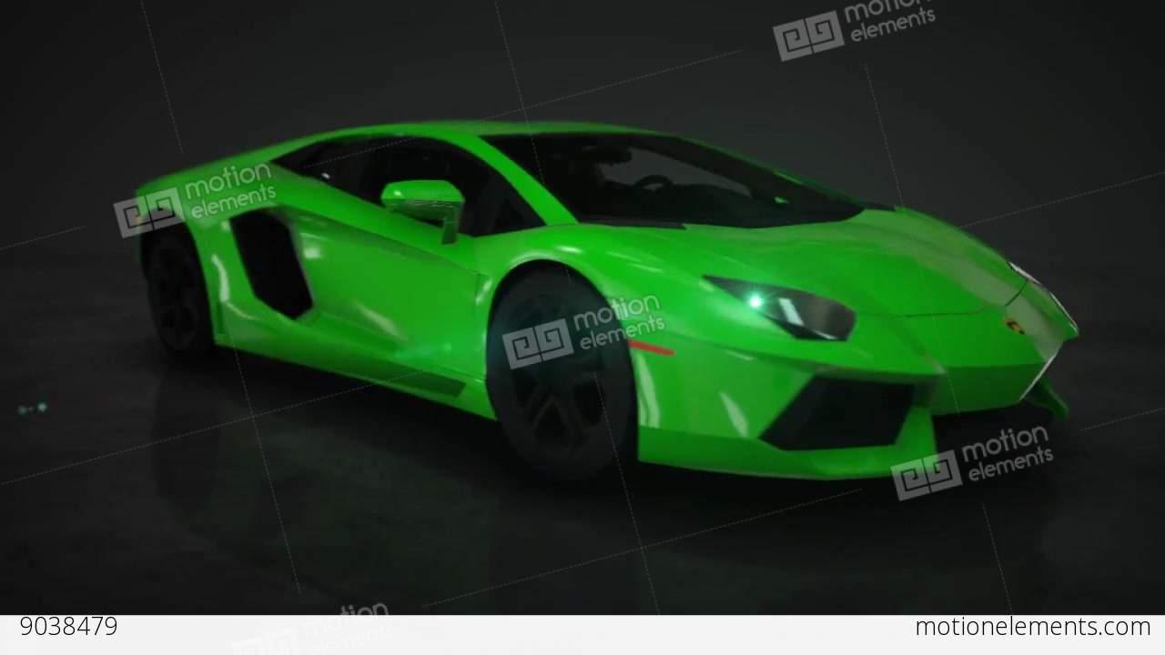 Lamborghini Aventador 360 176 Hd Motion Background Stock