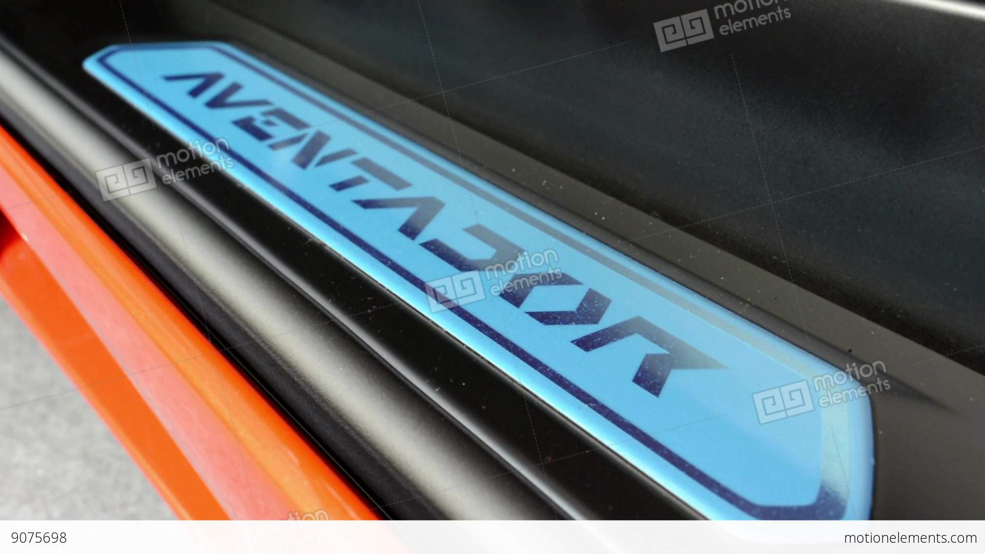 Detail Of Sign Aventador Lamborghini Car Door Stock Video
