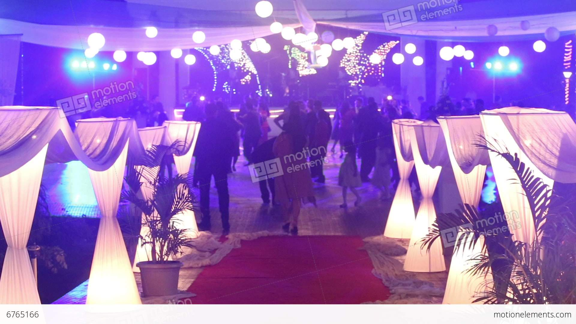 People Dance At Catholic Wedding Party Stock Video Footage