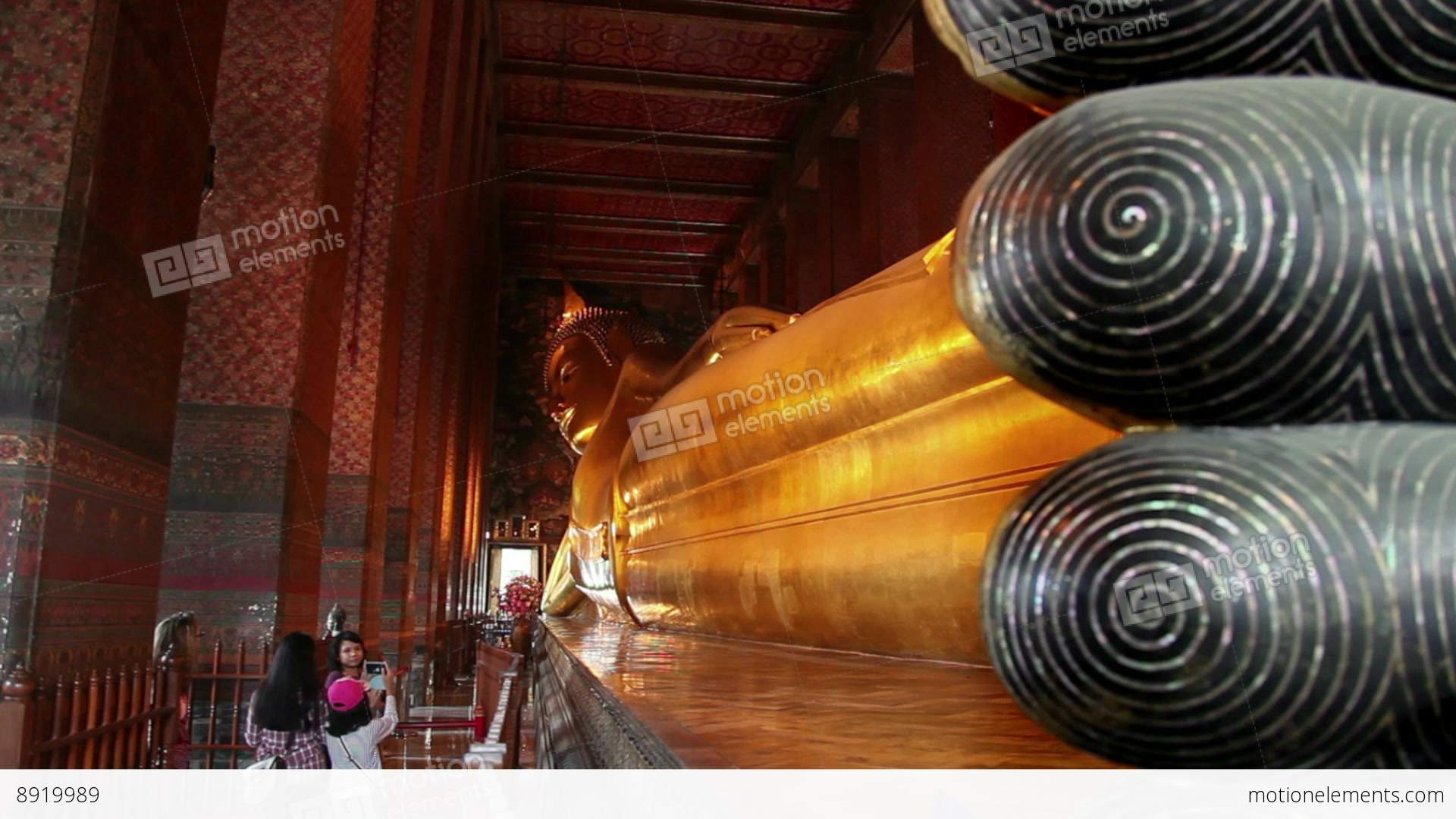 2of 9 Thailand  Southeast Asia  Reclining Buddha  Wat... Stock Video : reclining buddha images - islam-shia.org