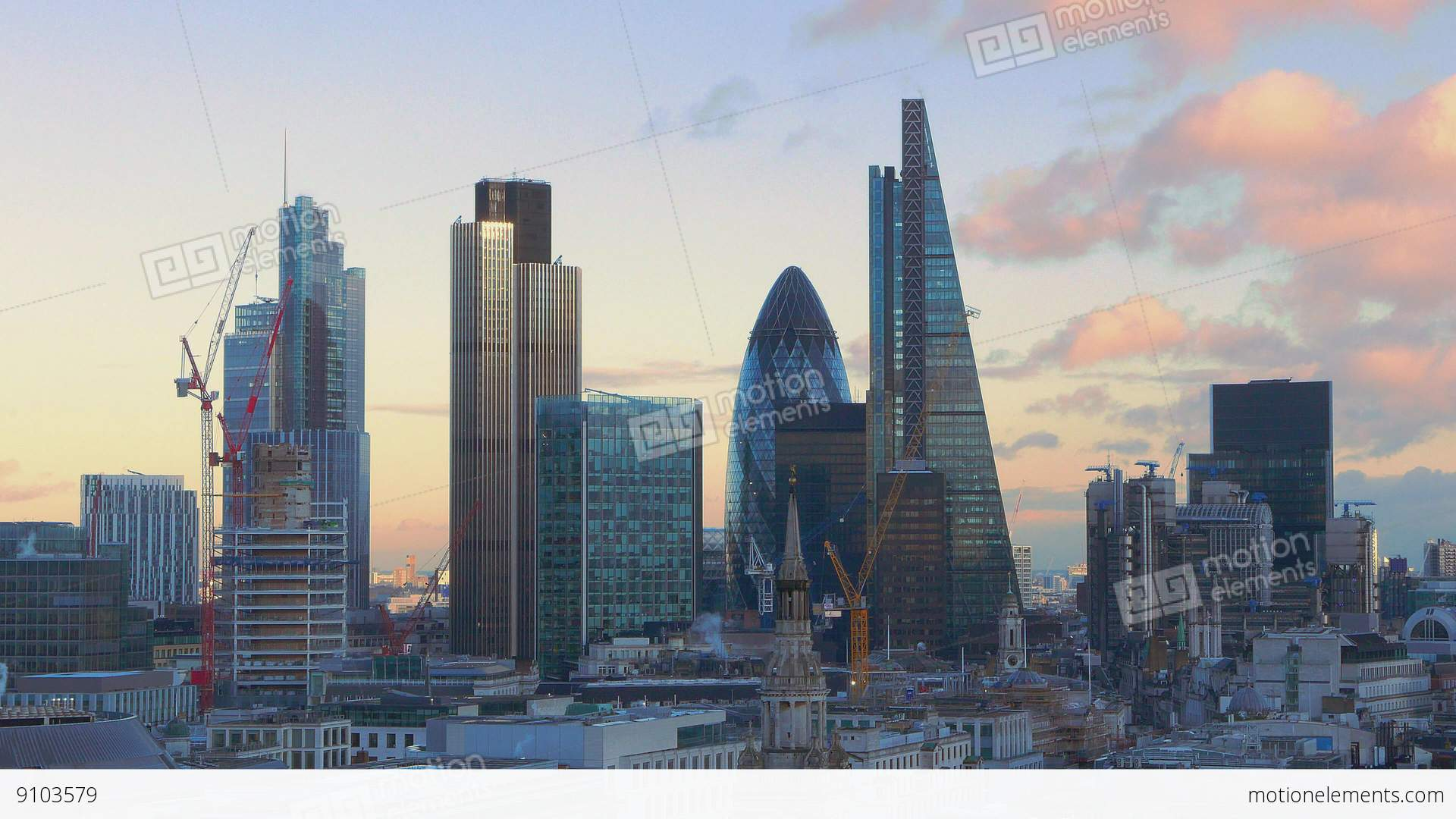 the skyscrapers and office buildings in the city of london stock video footage 9103579. Black Bedroom Furniture Sets. Home Design Ideas