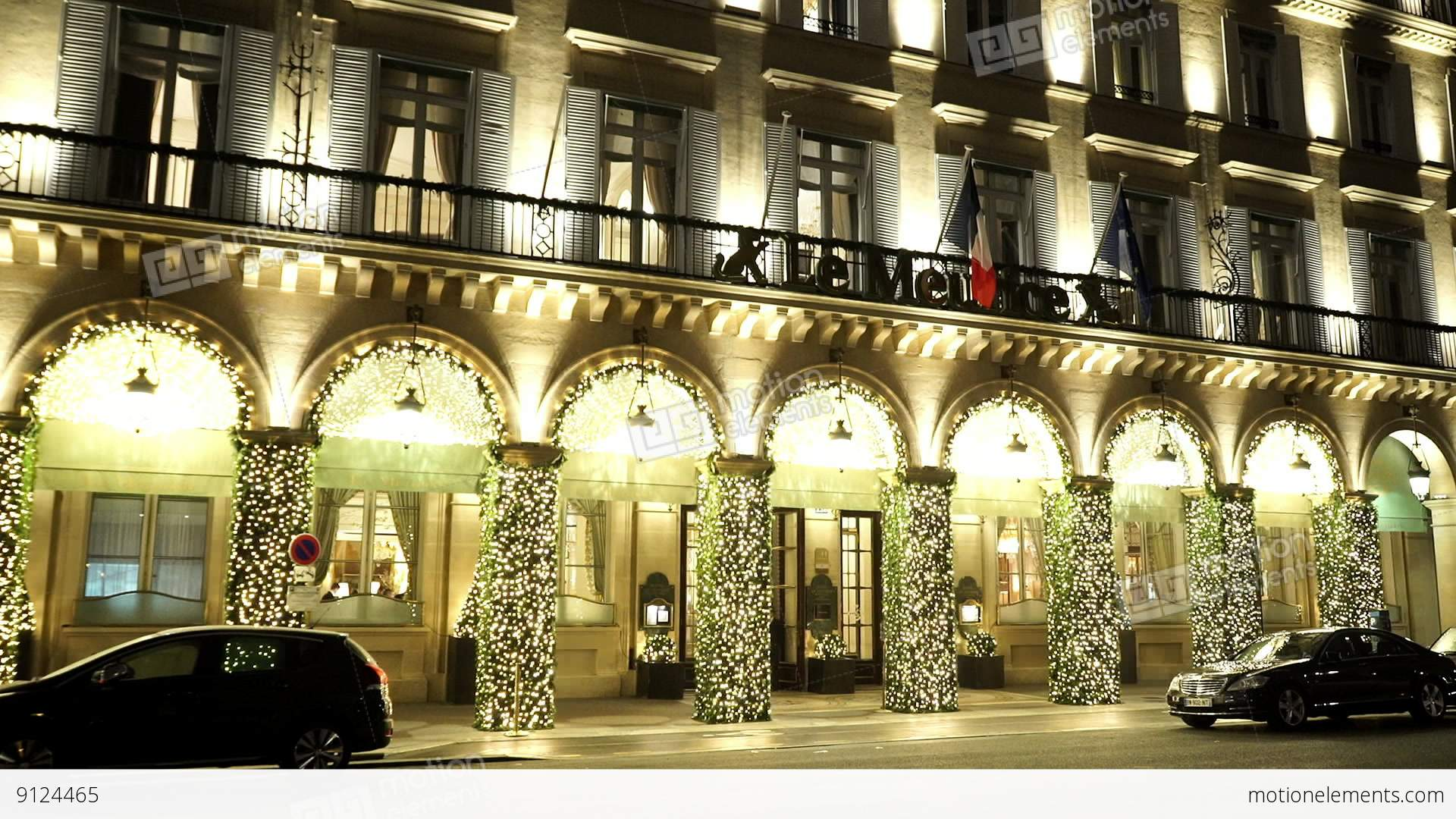 Famous top class luxury hotel le meurice paris stock video footage