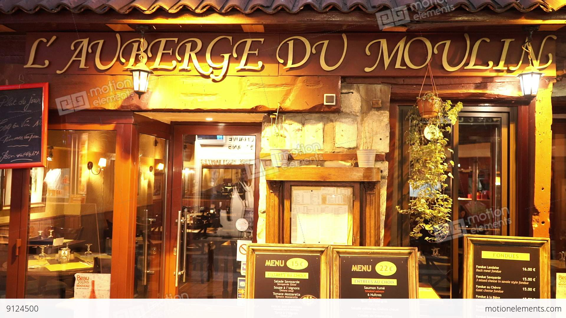 Romantic french restaurant in paris stock video footage for Paris restaurant