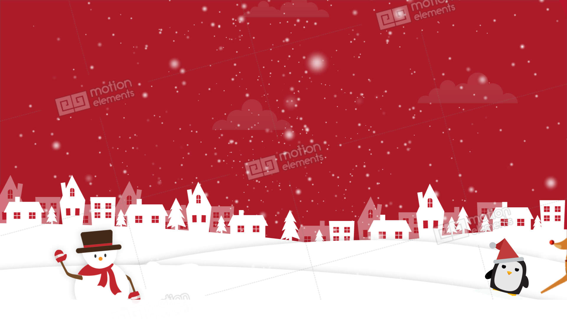 christmas background 2 stock animation | 11043333