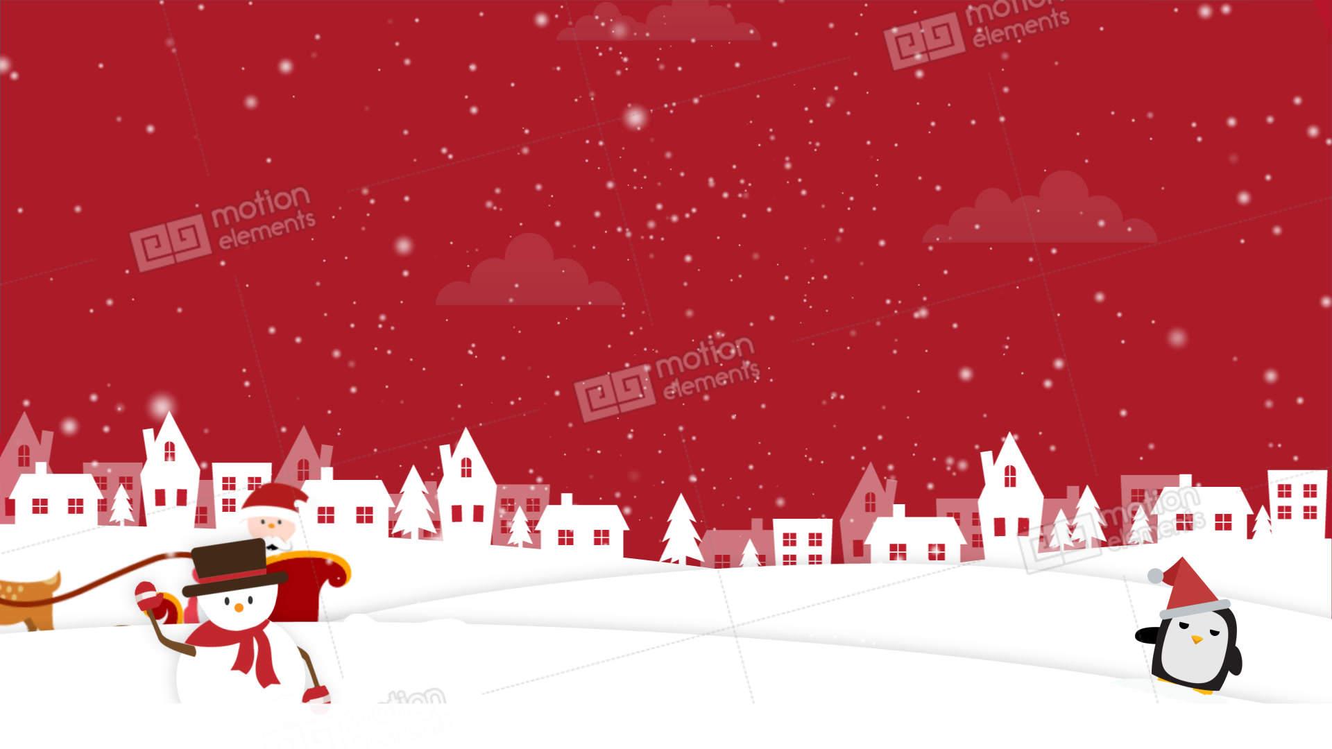 christmas background 2 stock animation | 11043333