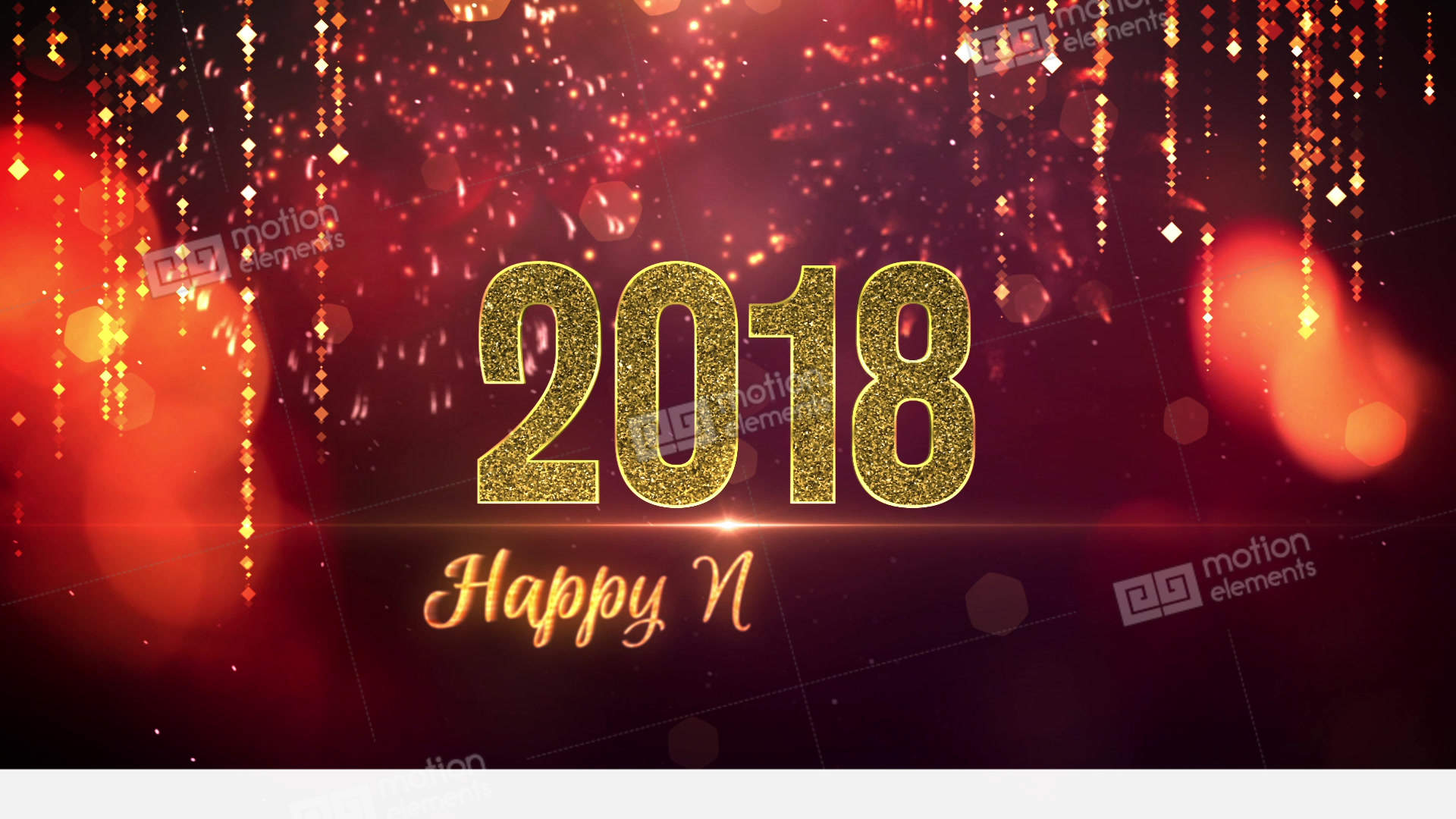 Happy new year 2018 animated Gif download hd Wallpaper video