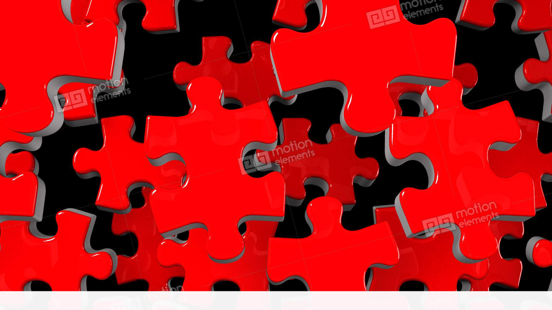 Red jigsaw puzzle on black background stock animation 11798312 - Jigsaw wallpaper ...