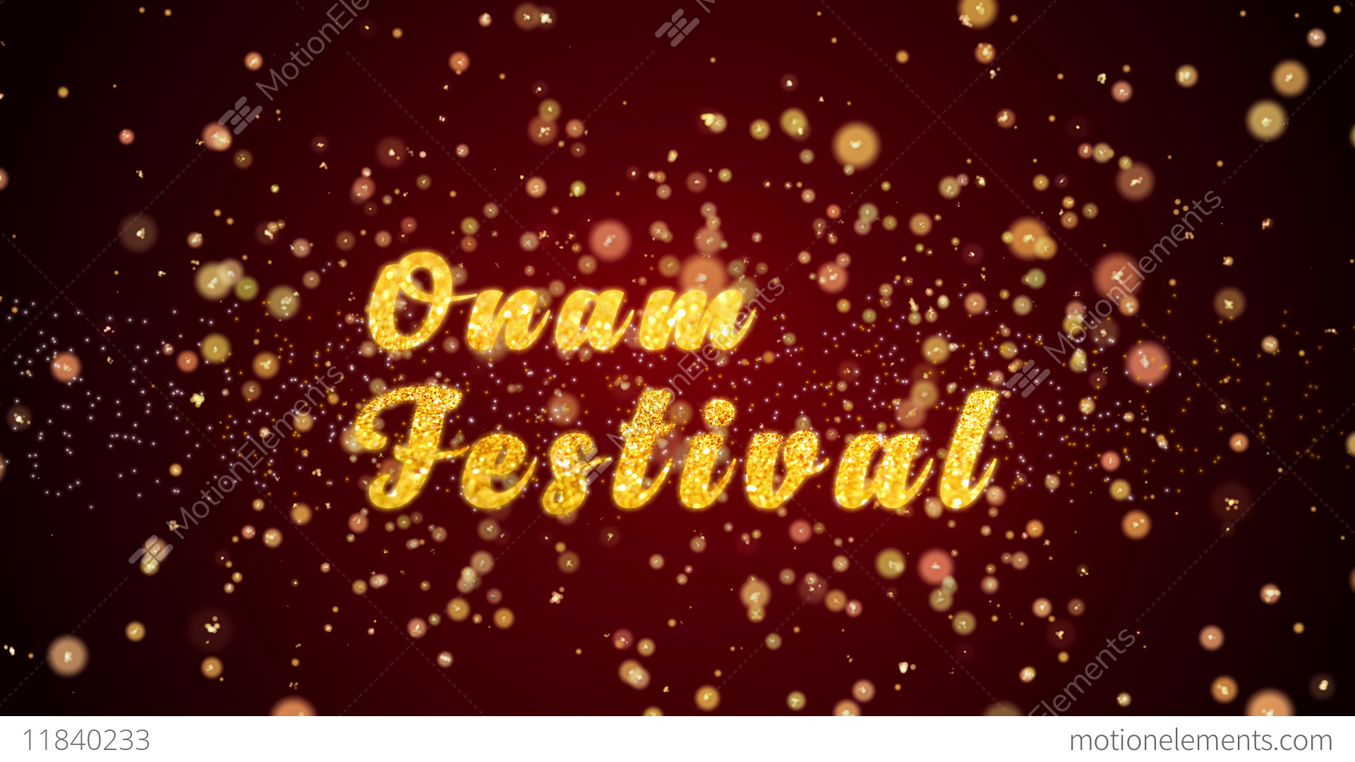 Onam Festival Greeting Card Text Shiny Particles For Celebration