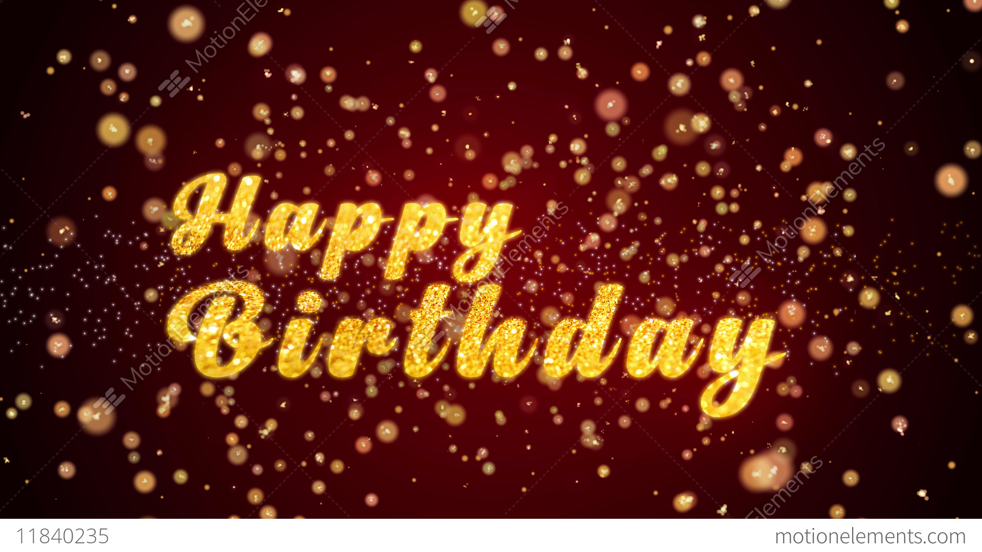 Happy Birthday Greeting Card Text Shiny Particles For Celebration