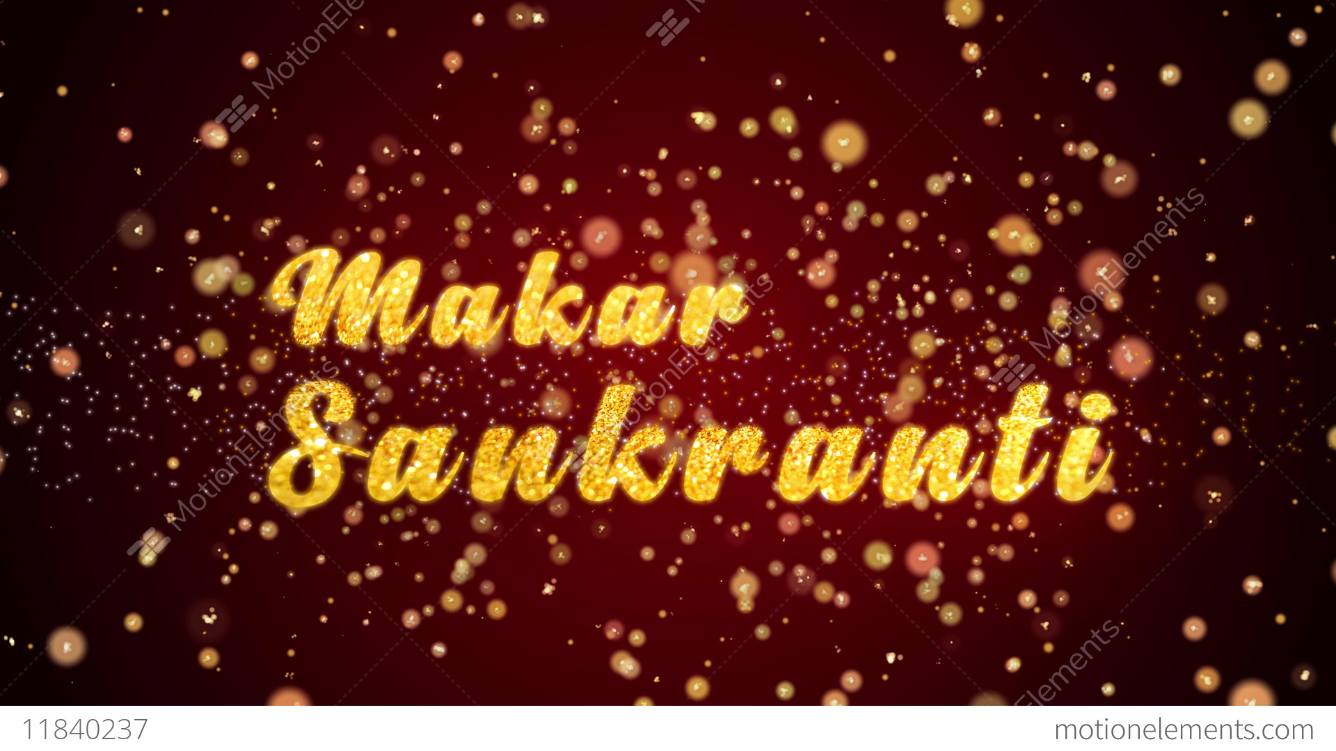 Makar sankranti greeting card text shiny particles for celebration makar sankranti greeting card text shiny particles for stock video footage m4hsunfo