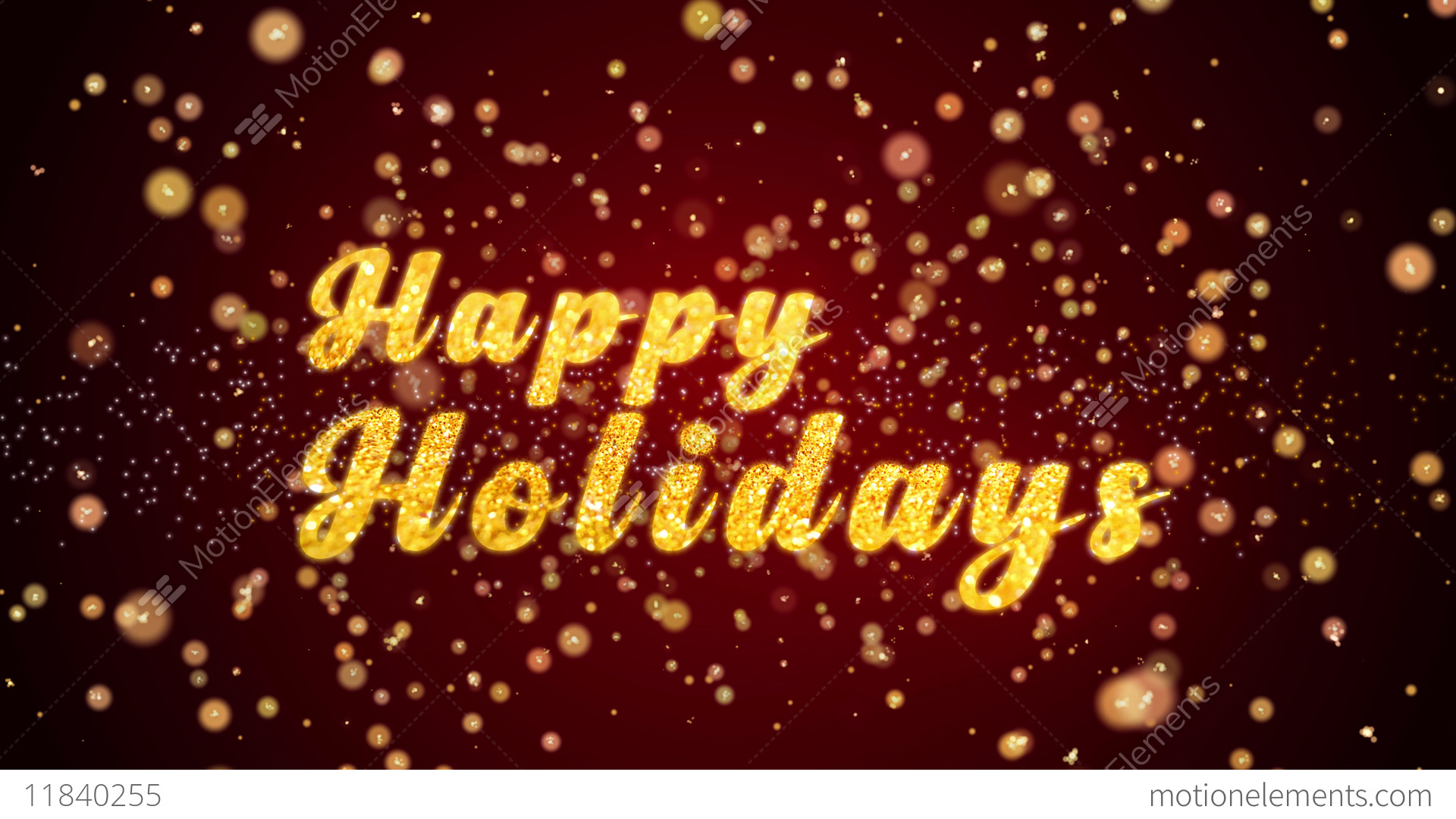 Happy Holidays Greeting Card Text Shiny Particles For Celebration
