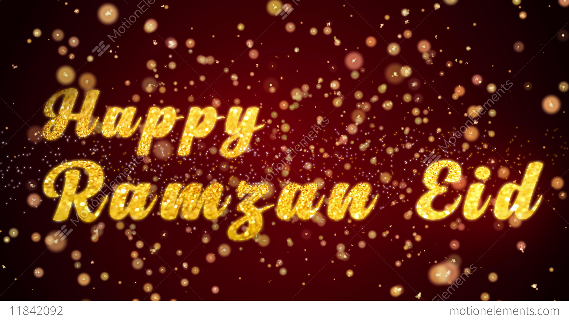 Happy ramzan eid greeting card text shiny particles for celebration happy ramzan eid greeting card text shiny particles for stock video footage m4hsunfo