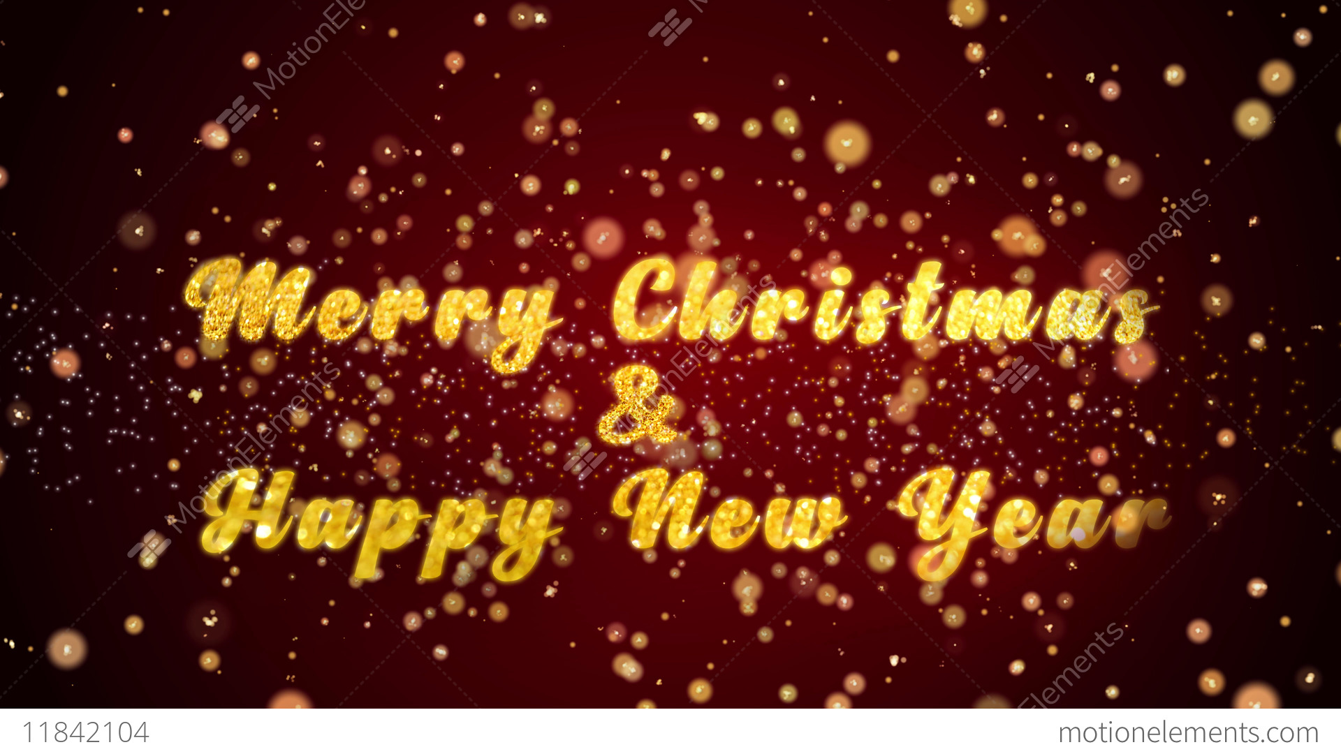 merry christmas happy new year greeting card text shiny stock video footage