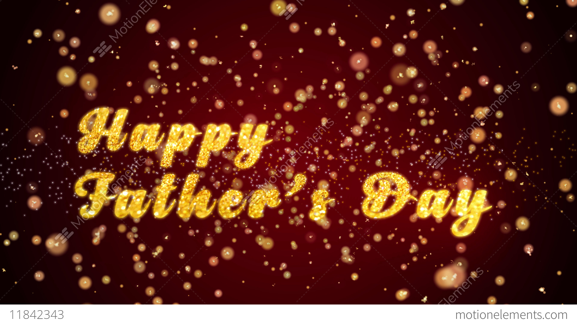 Happy Fathers Day Greeting Card Text Shiny Particles For