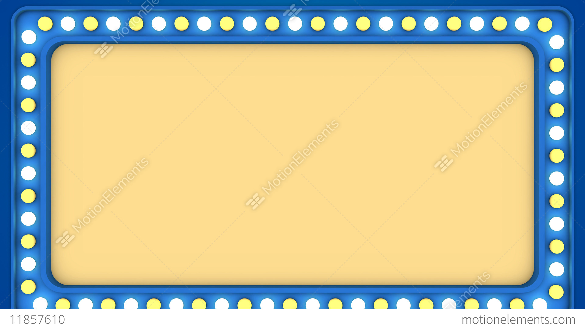Flashing Light Bulbs Blue Frame Border Screen Sign Stock Video Footage