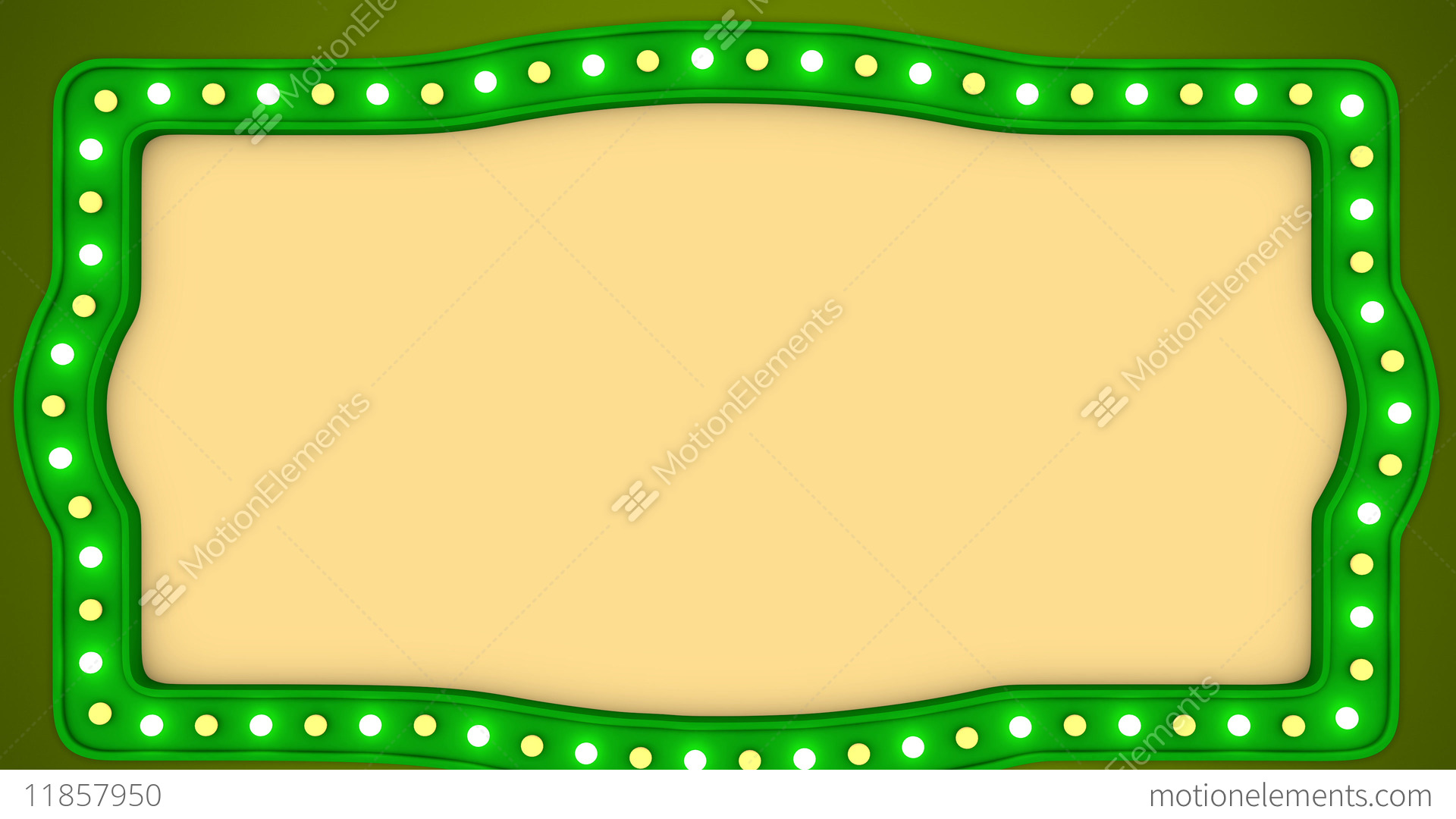 vintage frame border. Flashing Light Bulbs Green Vintage Frame Border ScreenStock Video Footage