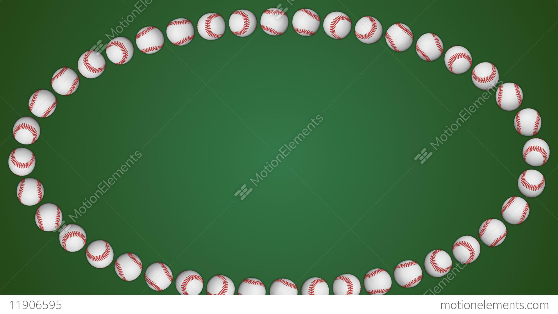 45107075daa6 Baseball ball american sport green border frame background Stock Video  Footage