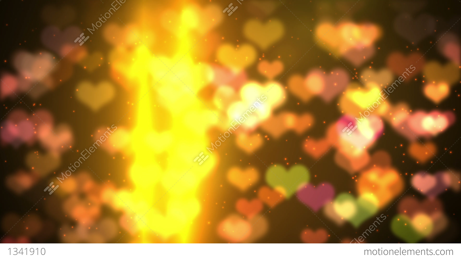 Bokeh Heart Shape Of Light Background Stock Footage Video: Colorful Background Heart Bokeh Light HD Loopable Stock