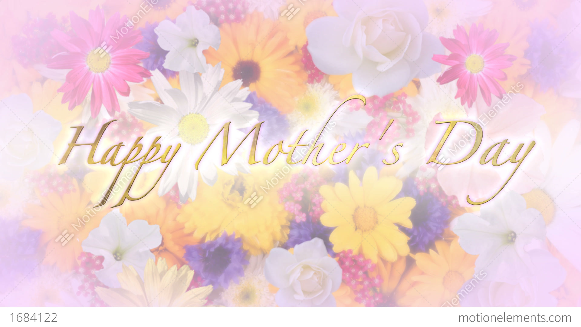Happy Mothers Day Title And Background Stock Video Footage