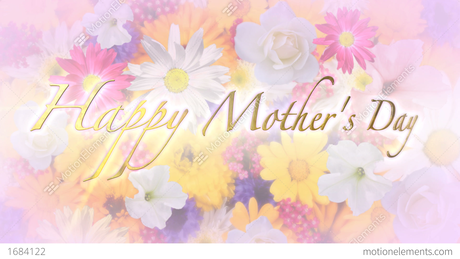 Wallpaper Of Happy Mothers Day: Happy Mother's Day Title And Background Stock Animation