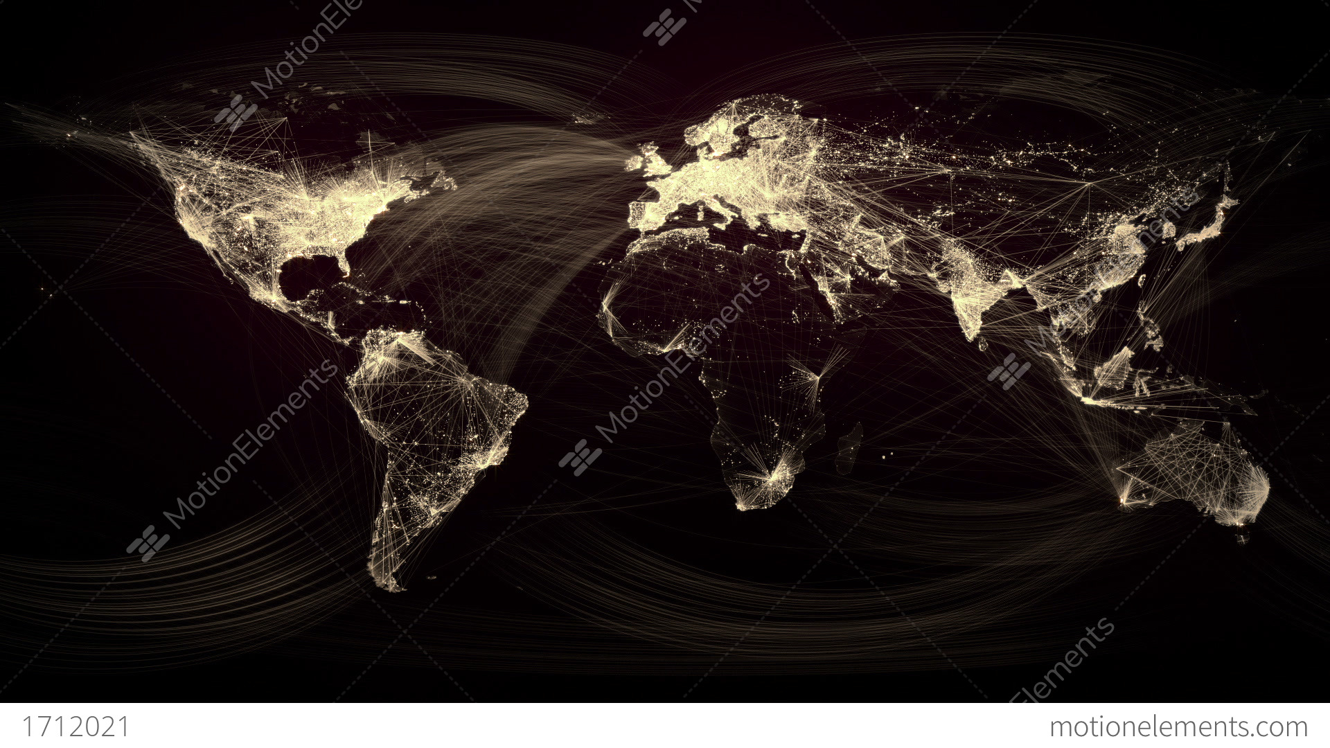 Glowing network lines lighting up world map gold version stock glowing network lines lighting up world map gold version stock video footage gumiabroncs Gallery