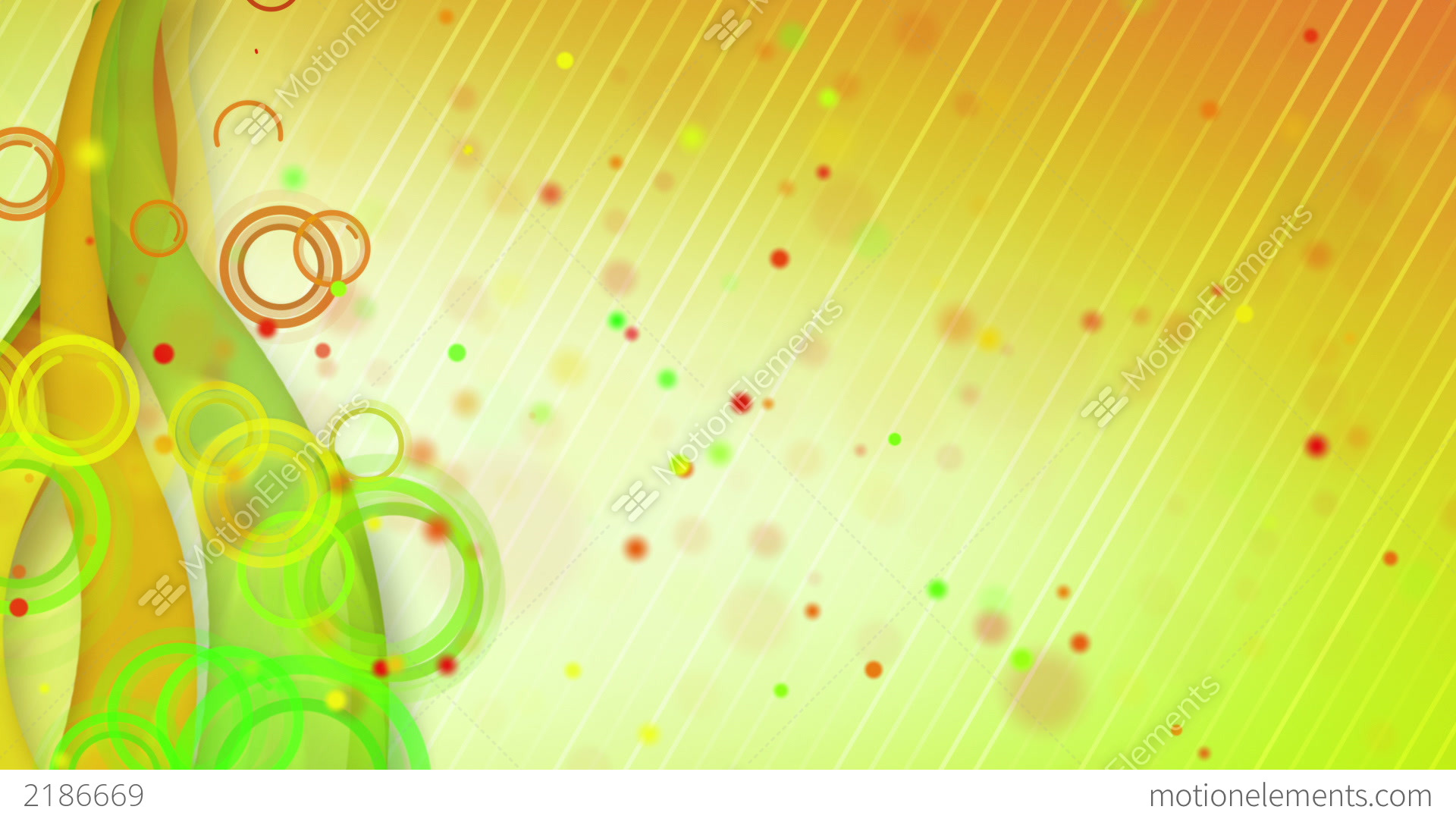Particles Lines Orange Green Loop Background Stock ...