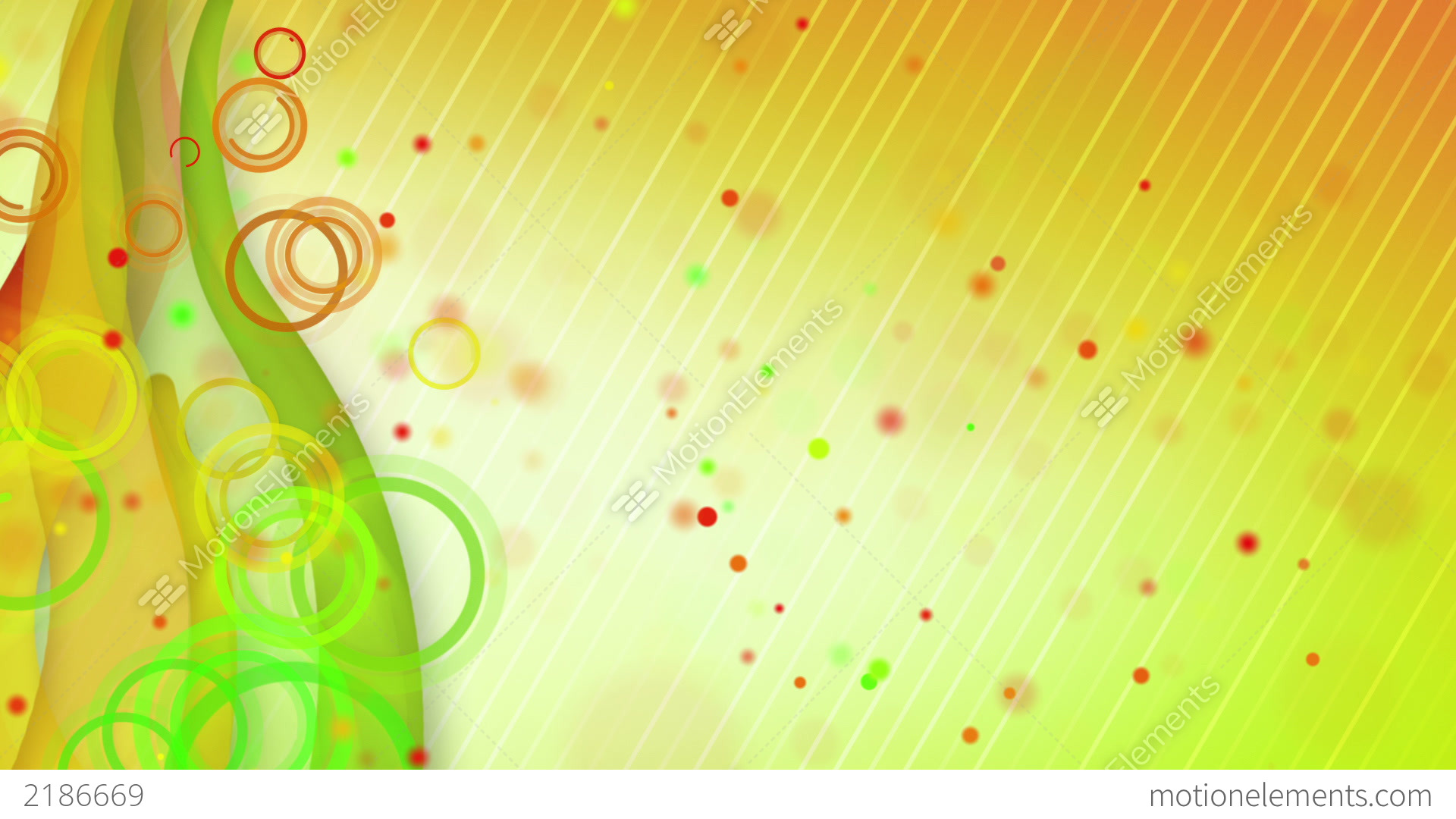 particles lines orange green loop background stock animation 2186669