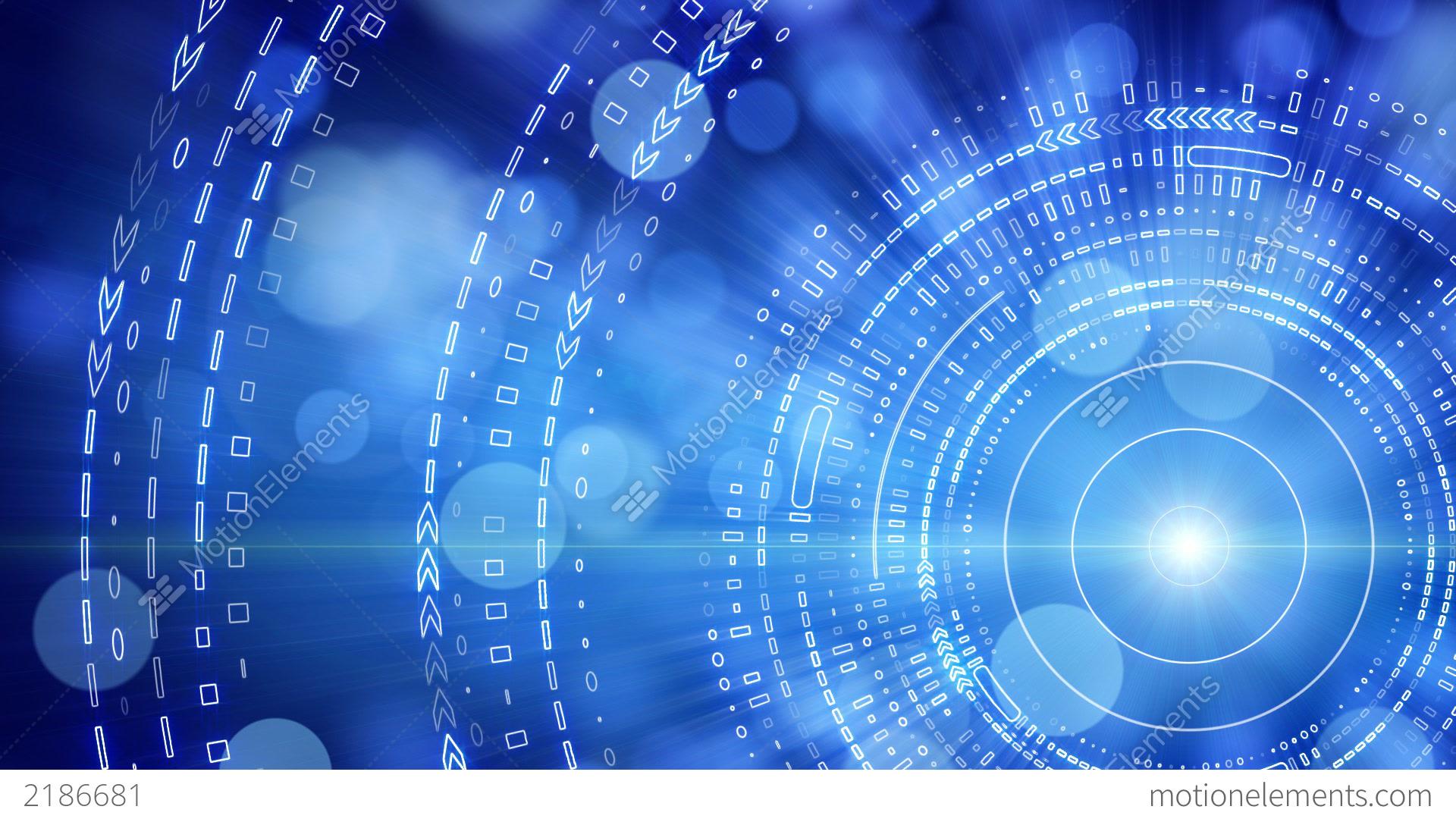 Blue Tech Circles Powerpoint Technology PPT Backgrounds - Blue ...