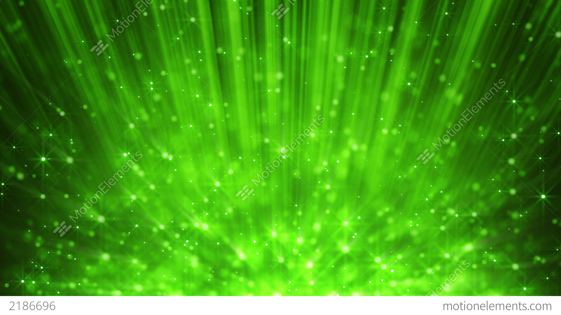 Green Light Effects Stock Footage Video: Green Light Beams And Rising Blinking Particles Lo Stock
