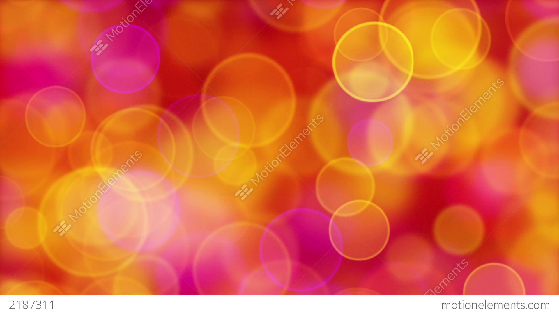 red orange pink yellow circle bokeh lights loop stock. Black Bedroom Furniture Sets. Home Design Ideas