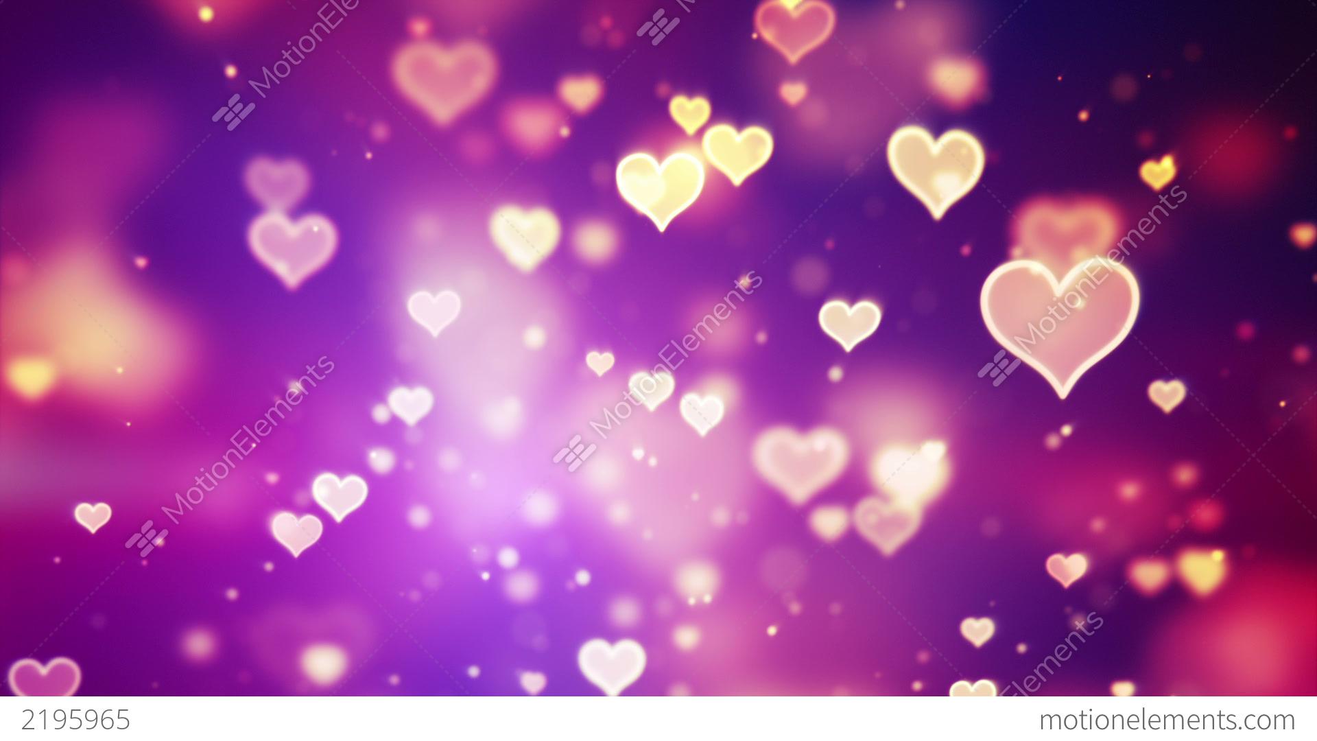 Shining Hearts Bokeh Loopable Romantic Background Stock Animation 2195965