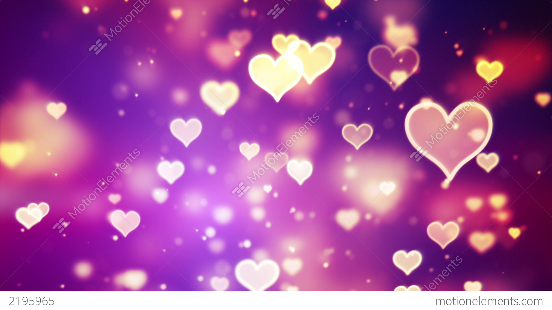 Stock Video 2195965 Shining Hearts Bokeh Loopable Romantic Background